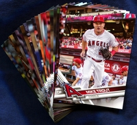2017 Topps Los Angeles Angels Baseball Cards Team Set