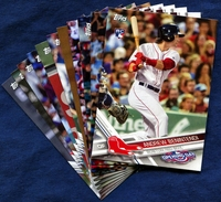 2017 Topps Opening Day Boston Red Sox Baseball Cards Team Set