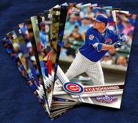 2017 Topps Opening Day Chicago Cubs Baseball Cards Team Set