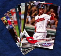 2017 Topps Opening Day Cleveland Indians Baseball Cards Team Set