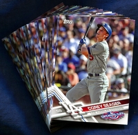 2017 Topps Opening Day Los Angeles Dodgers Baseball Cards Team Set