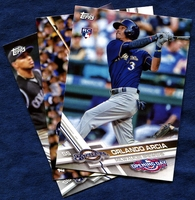 2017 Topps Opening Day Milwaukee Brewers Baseball Cards Team Set