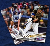 2017 Topps Opening Day San Diego Padres Baseball Cards Team Set