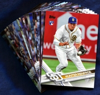 2017 Topps San Diego Padres Baseball Cards Team Set