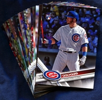 2017 Topps Update Chicago Cubs Baseball Cards Team Set