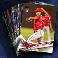 2017 Topps Update Los Angeles Angels Baseball Cards Team Set