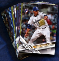 2017 Topps Update San Diego Padres Baseball Cards Team Set