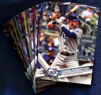 2017 Topps Update Tampa Bay Rays Baseball Cards Team Set
