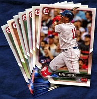 2018 Bowman & Prospects Boston Red Sox Baseball Cards Team Set