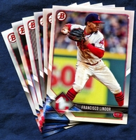2018 Bowman & Prospects Cleveland Indians Baseball Cards Team Set