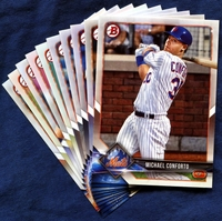 2018 Bowman & Prospects New York Mets Baseball Cards Team Set