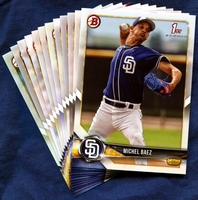 2018 Bowman & Prospects San Diego Padres Baseball Cards Team Set