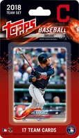 2018 Cleveland Indians Topps MLB Factory Baseball Cards Team Set