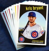 2018 Topps Archives Chicago Cubs Baseball Cards Team Set