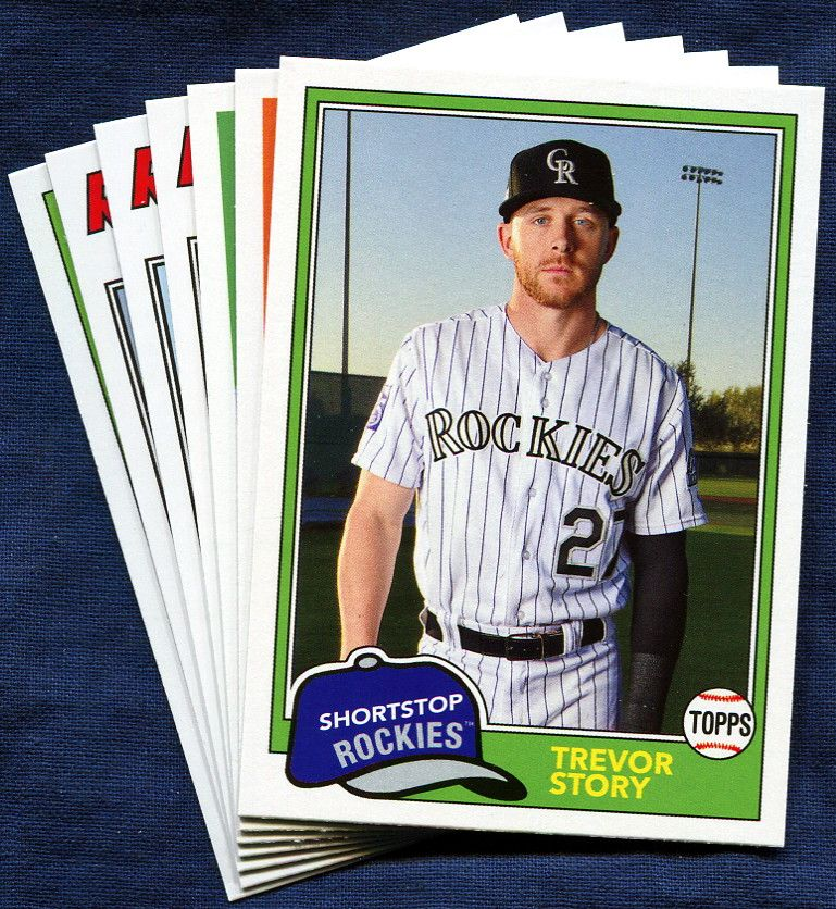 2018 Topps Archives Colorado Rockies Team Set 7 Cards