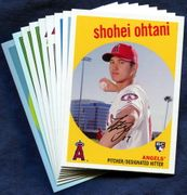 2018 Topps Archives Los Angeles Angels Baseball Card Singles