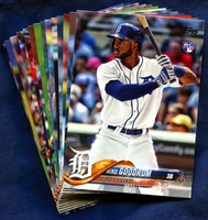 2018 Topps Detroit Tigers Baseball Cards Team Set