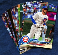 2018 Topps Opening Day Chicago Cubs Baseball Cards Team Set