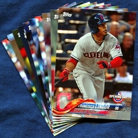 2018 Topps Opening Day Cleveland Indians Baseball Cards Team Set