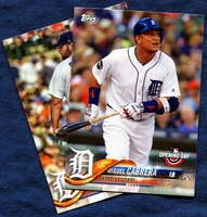 2018 Topps Opening Day Detroit Tigers Baseball Cards Team Set