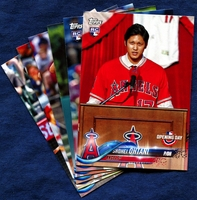 2018 Topps Opening Day Los Angeles Angels Baseball Cards Team Set