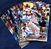 2018 Topps Opening Day Los Angeles Dodgers Baseball Cards Team Set