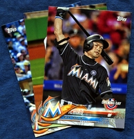2018 Topps Opening Day Miami Marlins Baseball Cards Team Set