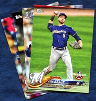 2018 Topps Opening Day Milwaukee Brewers Baseball Cards Team Set