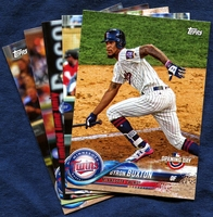 2018 Topps Opening Day Minnesota Twins Baseball Cards Team Set