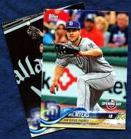 2018 Topps Opening Day San Diego Padres Baseball Cards Team Set