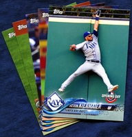 2018 Topps Opening Day Tampa Bay Rays Baseball Cards Team Set