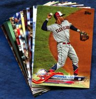 2018 Topps Update Cleveland Indians Baseball Cards Team Set