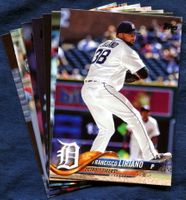 2018 Topps Update Detroit Tigers Baseball Cards Team Set
