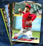 2018 Topps Update Los Angeles Angels Baseball Cards Team Set