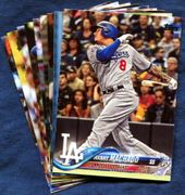 2018 Topps Update Los Angeles Dodgers Baseball Cards Team Set