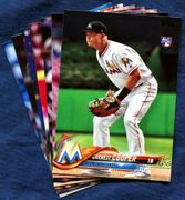 2018 Topps Update Miami Marlins Baseball Cards Team Set