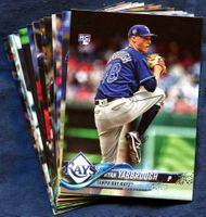 2018 Topps Update Tampa Bay Rays Baseball Cards Team Set