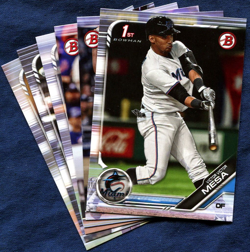 2019 Bowman Prospects Miami Marlins Baseball Cards Team Set