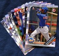 2019 Bowman & Prospects New York Mets Baseball Cards Team Set