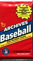2019 Topps Archives Baseball Cards Retail Pack
