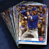 2019 Topps Chicago Cubs Baseball Cards Team Set