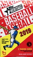 2019 Topps Heritage Baseball Cards Retail Pack