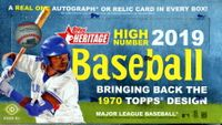 2019 Topps Heritage High Number Baseball Cards Hobby Box