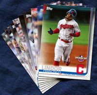 2019 Topps Opening Day Cleveland Indians Baseball Cards Team Set