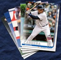 2019 Topps Opening Day Detroit Tigers Baseball Cards Team Set
