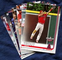 2019 Topps Opening Day Los Angeles Angels Baseball Cards Team Set