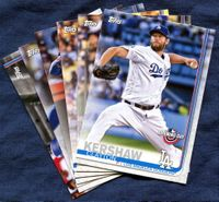 2019 Topps Opening Day Los Angeles Dodgers Baseball Cards Team Set