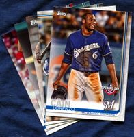 2019 Topps Opening Day Milwaukee Brewers Baseball Cards Team Set