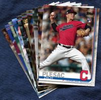 2019 Topps Update Cleveland Indians Baseball Cards Team Set
