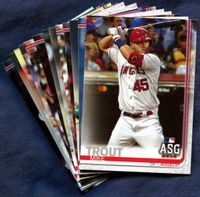 2019 Topps Update Los Angeles Angels Baseball Cards Team Set